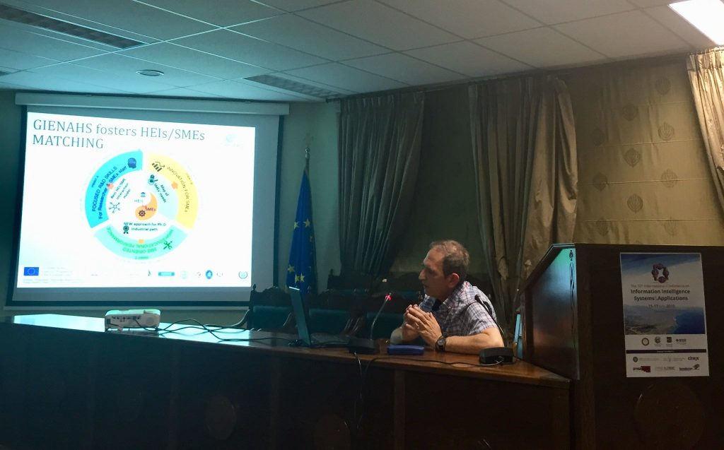 Gienahs Project was presented in the 10th International Conference on Information, Intelligence, Systems and Applications in Patras on 16th July 2019